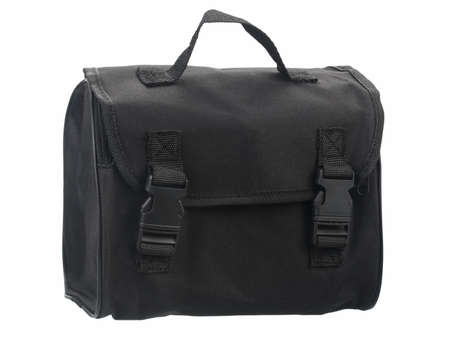 Black fabric bag. Ideal for carrying your belongings.
