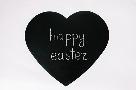 Happy easter chalk board Фото со стока