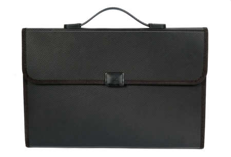 black briefcase: black briefcase isolated