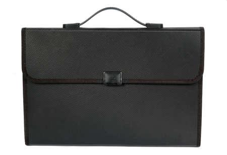 black briefcase: malet�n negro aislado