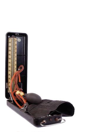 blood pressure gauge: retro tonometer-2  Stock Photo