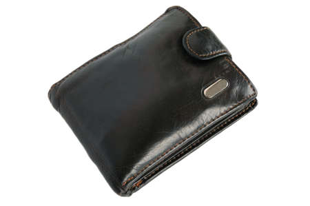 wallet leather isolated-2 Stock Photo - 13007382