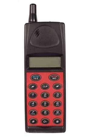 telefono antico: vecchio telefono cellulare isolato