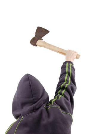 maniac: maniac with ax isolated