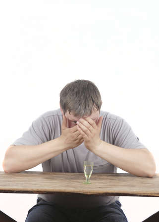 man and alcoholism Stock Photo - 20563449