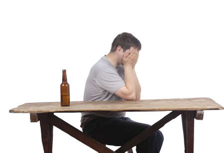 man and alcoholism Stock Photo - 20563445