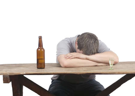 man and alcoholism Stock Photo - 20563443