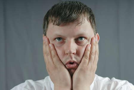 decepci�n: la cara del hombre decepci�n