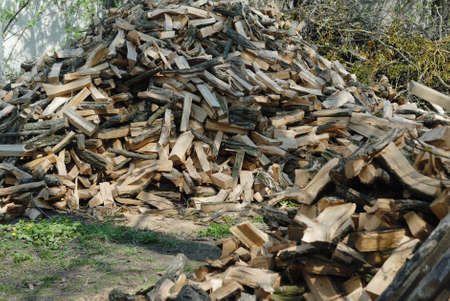 chopped: stack of chopped firewood