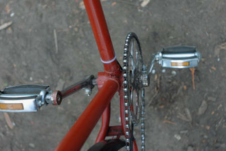 adulation: bicycle pedals and chain