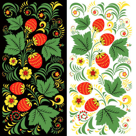 vector pattern Russian khokhloma