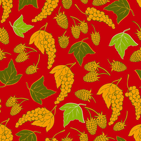 red currant: seamless berries Illustration