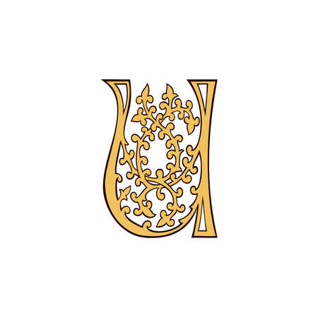 replica: Replica letters from King Henry pericope, U Illustration