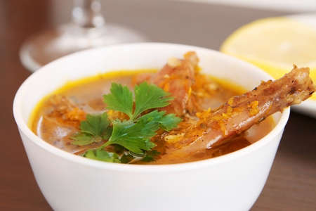 stewed: rabbit stew  stewed meat Stock Photo