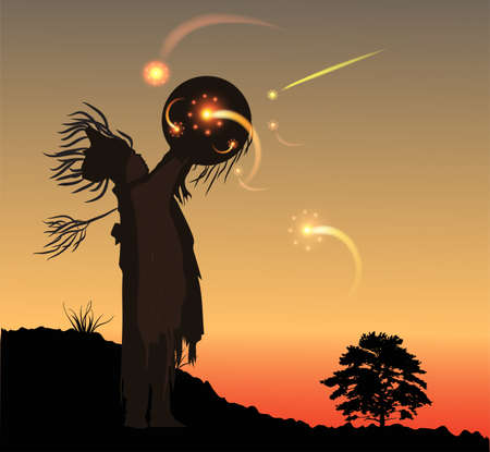 mysticism: Shoman Illustration
