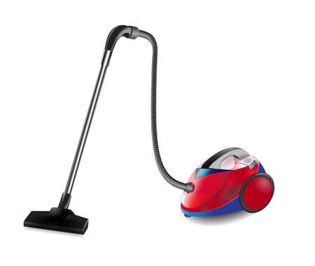 homely: old vacuum cleaner Illustration