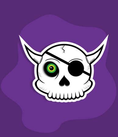 one eyed: one eyed skull