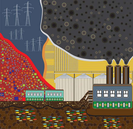 recycling plant Vector