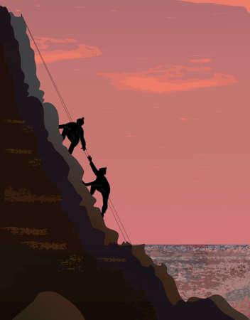 climbers: Climbers Illustration