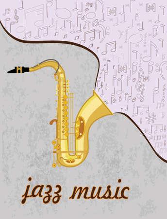 lyrics: Saxophone Illustration