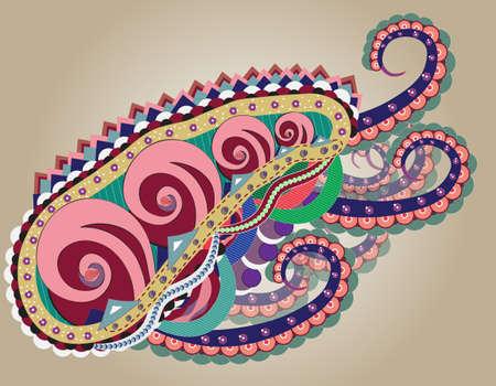 abstract octopus Illustration