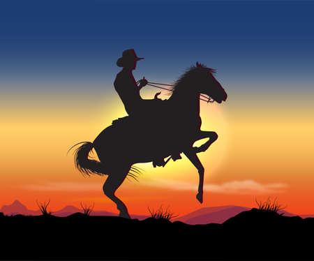 cowboy night Vector