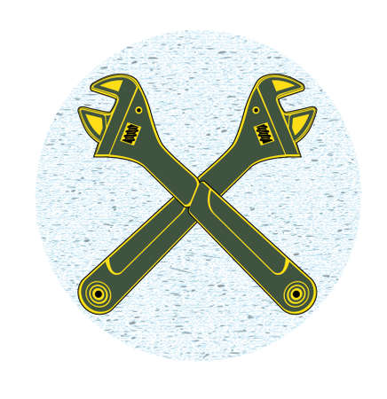 adjustable: adjustable wrench Illustration
