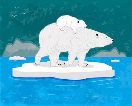 floe: Polar Bears Illustration
