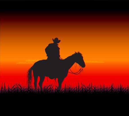 prairie night Vector