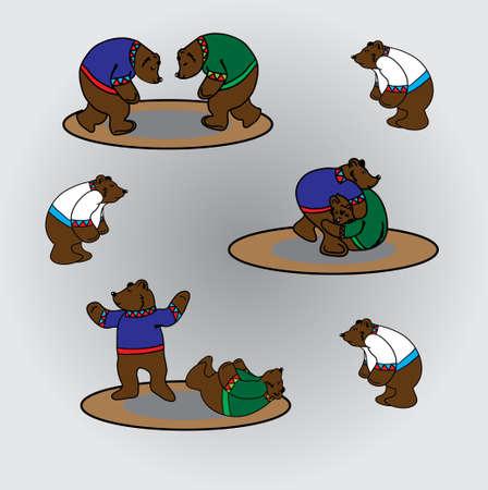 wrestlers: bears wrestlers