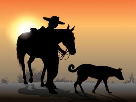 Cowboy and shadow.