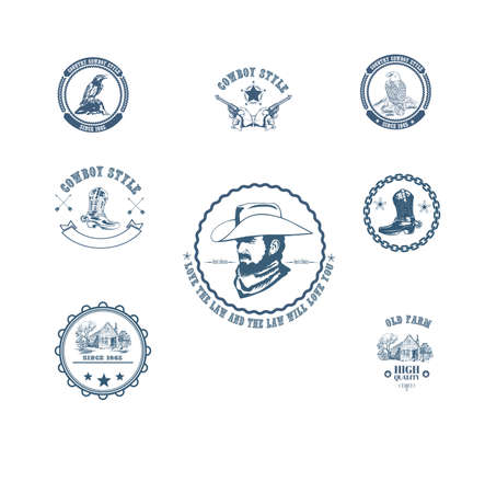 icons with elements of a cowboy subculture