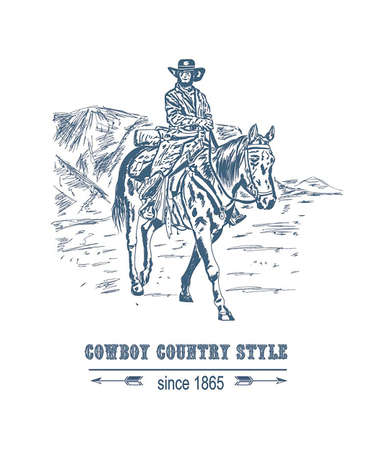 bearded cowboy riding
