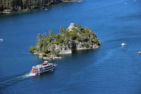 tourist boat on Lake Tahoe