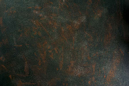 Stone or concrete green old rusty background, wall, table top view copy space