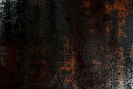 Old rusty metallic black background, silvery luster, kitchen table