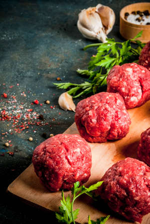 meatballs, meat, beef, pork, spice, background, culinary, colors, ingredient, appetizing, tasty, dumpling, red, recipe, closeup, dinner, crude, gastronomy, fat, gourmet, lunch, heap, meatball, chopping, force-meat, raw, victuals, balls, preparation, board, healthy, food