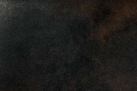 Vista superior del espacio de copia de fondo oxidado oscuro viejo Foto de archivo - 99287820