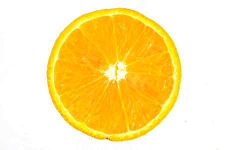 Half sliced orange isolated on white Stok Fotoğraf