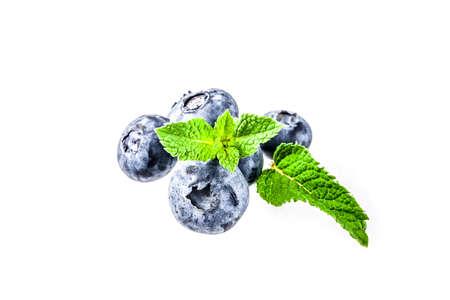 Raw fresh blueberry isolated on white