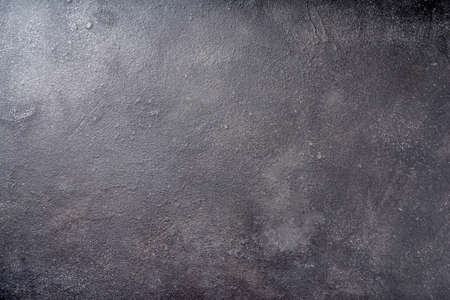 Black concrete background top view copy space Stock Photo