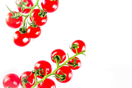 Cherry tomatoes, isolated on white