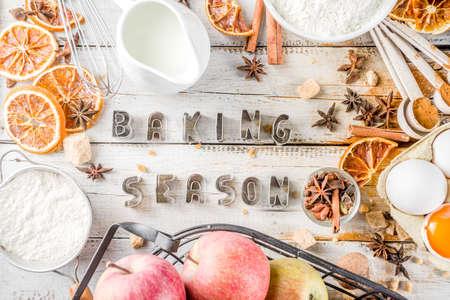 Autumn baking sale concept. Stock Photo