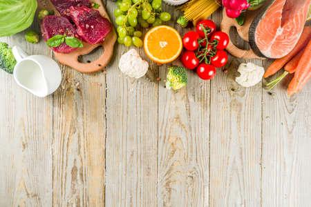 Flexitarian diet diet, with fresh vegetables