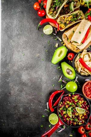 Cinco de Mayo food.Mexican food concept Stock Photo