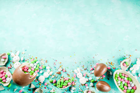 Colorful spring easter sweets