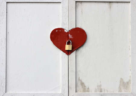 A loooked heart shaped window shutter