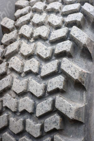 A closeup on a tractor tyre Stock Photo