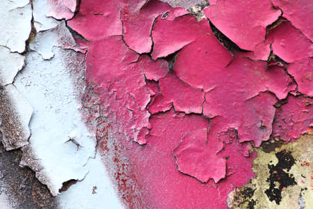 A closeup on flaking graffit paint Stock Photo