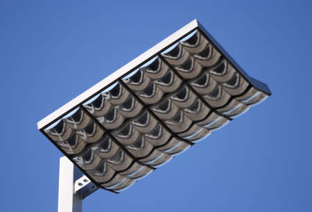 A futuristic street lamp in modern style.